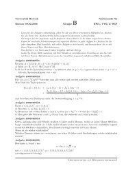 Universität Rostock Mathematik für Klausur 09.02.2006 Gruppe B ...