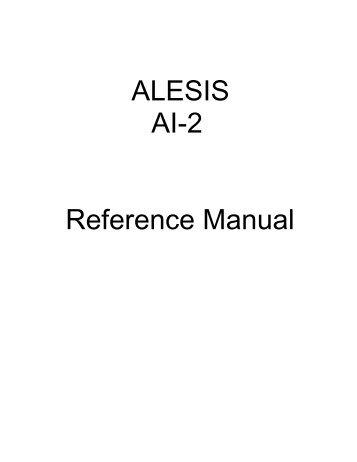 AI-2 Manual - Alesis