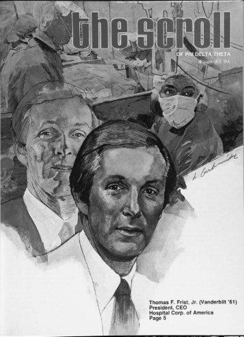 1983–84 Volume 107 No 1–5 - Phi Delta Theta Scroll Archive