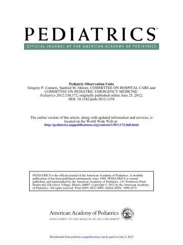 DOI: 10.1542/peds.2012-1358 ; originally published online June 25 ...