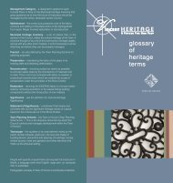 glossary of heritage terms - Vincent Heritage
