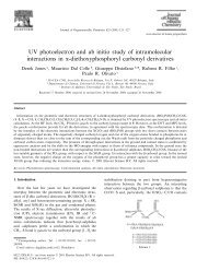 UV photoelectron and ab initio study of intramolecular interactions in ...