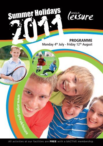 Active Angus 2011 Programme (2.2 MB PDF) - Angus Council