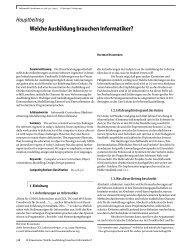 Welche Ausbildung brauchen Informatiker ? - Diskussion im ...