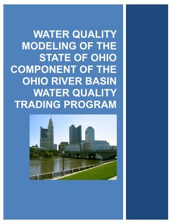 Water Quality Modeling of the State of Ohio Component of the Ohio ...