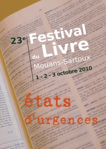 """Dossier de presse du """"Festival du livre 2010"""" à télécharger ici"""