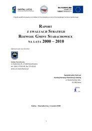 raport z ewaluacji strategii rozwoju gminy starachowice na lata 2000