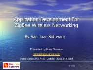 Application Development For ZigBee Wireless ... - ZigBee Alliance