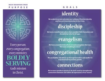 Goals and Guiding Principles - Rocky Mountain Synod, ELCA