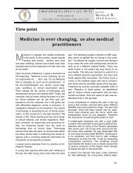 Medicine is ever changing, so also medical practitioners - Journal of ...