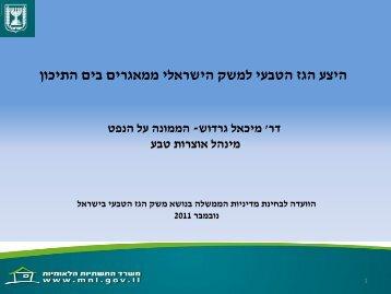 """היצע הגז הטבעי למשק הישראלי ממאגרים בים התיכון - ד""""ר מיכאל גרדוש, 7.11 ..."""
