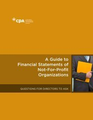 A Guide to Financial Statements of Not-For-Profit Organizations