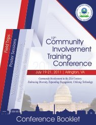 2011 Community Involvement Training Conference - Emsus.com