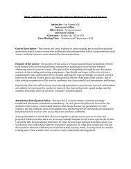 Understanding Quantitative Methods in the Social ... - Psychology