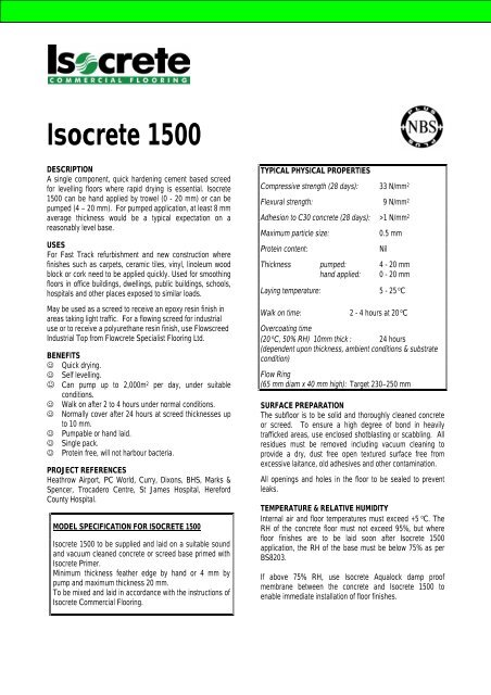 Isocrete 1500 Jhlidstone