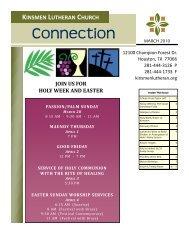 Connection - Kinsmen Lutheran Church