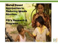 Current situation of abortion in Cambodia 2011 - MEDiCAM