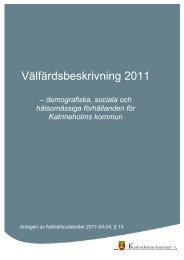Välfärdsbeskrivning 2011 - Katrineholms kommun