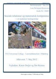 Sociale relationer og matematiske komptencer - Folkeskolen