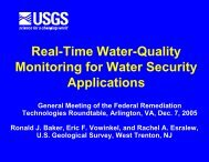 Real-Time Water-Quality Monitoring for Water Security Applications