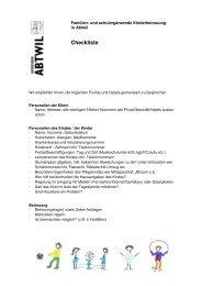 Checkliste Kinderbetreuung [PDF, 128 KB] - Abtwil