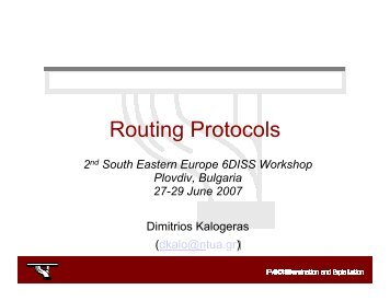IPv6 Routing Protocols: BGP - 6Diss