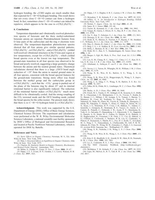 Observation of Steric Effect in o-Methyl Benzoate - American ...