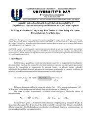Cercetari privind coeficientii de activitate ai sistemului Cu-O