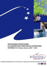 Programme opérationnel INTERREG IV A France ... - Administrateur