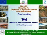 2011 transnational call for proposals-WP4 - arimnet