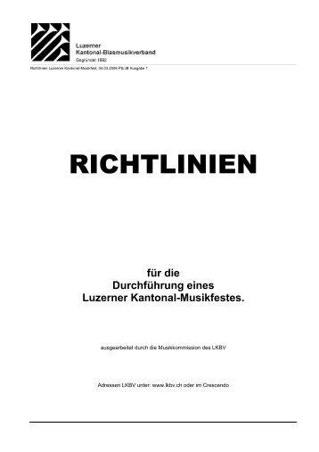 Richtlinien_Musikfest_2006 - Luzerner Kantonal-Blasmusikverband