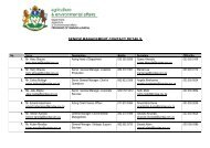 senior management contact details - Department of Agriculture and ...