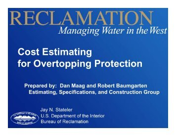 Cost Estimating for Overtopping Protection