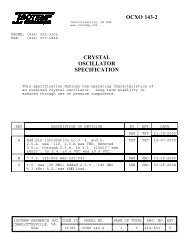 OCXO 143-2 CRYSTAL OSCILLATOR SPECIFICATION - isotemp