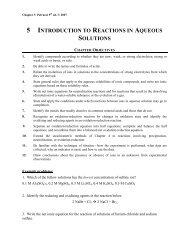 5 INTRODUCTION TO REACTIONS IN AQUEOUS SOLUTIONS