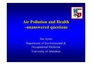 Air Pollution and Health –unanswered questions - IAPSC