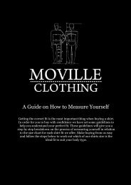 A Guide on How to Measure Yourself - Moville Clothing