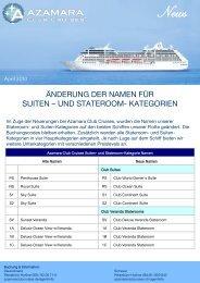 änderung der namen für suiten – und stateroom ... - Celebrity Cruises