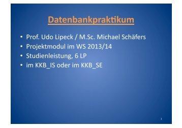 Datenbankprakkkum - Fachgebiet Datenbanken und ...