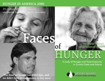 Food Bank Hunger in 2006 Report - City of Antioch