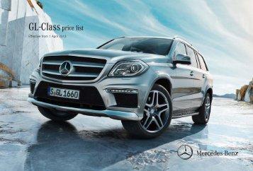 GL-Classprice list - Mercedes-Benz (UK)