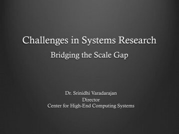 Challenges in Systems Research