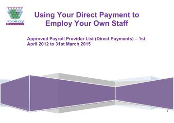 approved payroll providers - The Moray Council