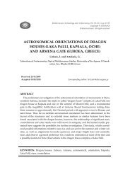 ASTRONOMICAL ORIENTATIONS OF DRAGON HOUSES (LAKA ...