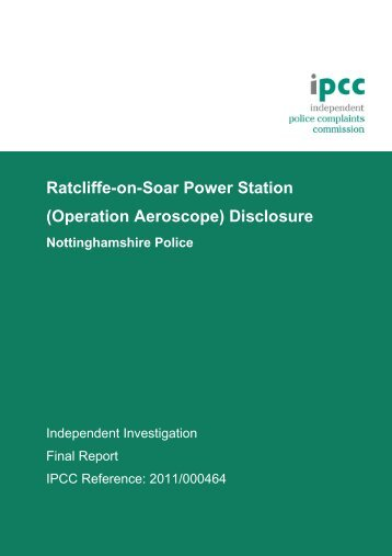 Final Operation Aeroscope report March 2012