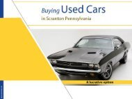 Buying used cars in Scranton Pennsylvania - A lucrative option