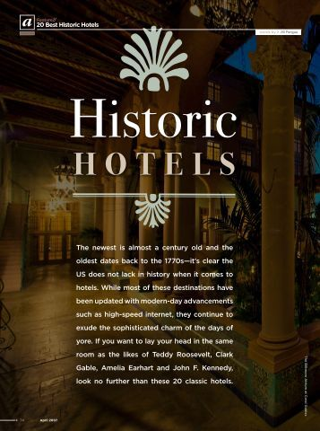 Go! AirTran Airways Inflight Magazine - Historic Hotels