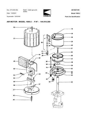 AIR MOTOR - MODEL 1000-2 - P.N° : 144.910.200 - Epacnz.co.nz