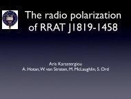 Aris Karastergiou A. Hotan, W. van Straten, M. McLaughlin, S. Ord