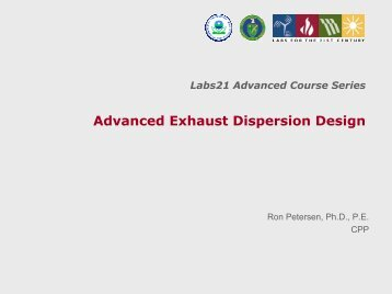 Advanced Exhaust Dispersion Design - Lawrence Berkeley National ...